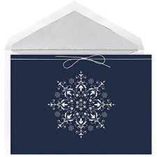 Shimmering Snowflake Intricuts Boxed Holiday Card