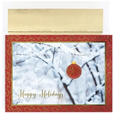 Ornament in Snow Century Boxed Holiday Card