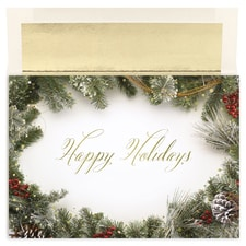 Holiday Wreath Border Century Boxed Holiday Card