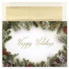Holiday Wreath Border Century Boxed Holiday Card