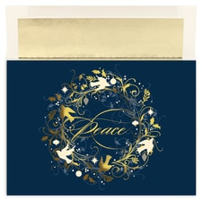 Peace Wreath Century Boxed Holiday Card