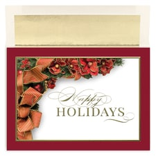 Holiday Ribbon Century Boxed Holiday Card