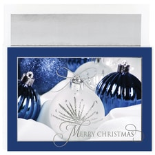 Glittering Ornaments Century Boxed Holiday Card