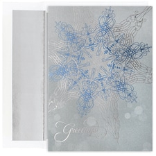 Shimmering Snowflake Century Boxed Holiday Card