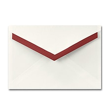 5 7/8 x 8 1/4 Ecru Merlot Ooh La Pointed Flap Envelope