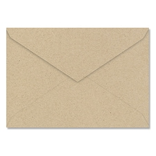 Jumbo Outer 5 7/16 X 7 7/8 Pointed Flap 80 lb. Kraft