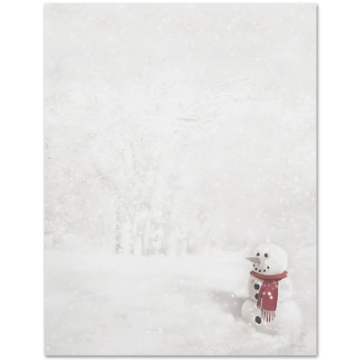 Snowman In Red Scarf Great Papers Letterhead