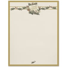 Vintage Christmas Holly Great Papers Letterhead