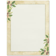 Falling Holly Great Papers Letterhead