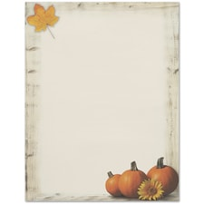 Pumpkin Sunflower Great Papers Letterhead