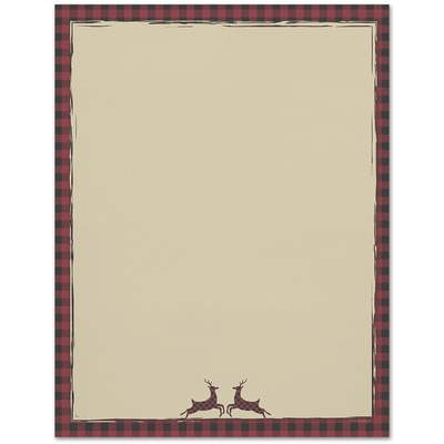 Buffalo Plaid Great Papers Letterhead