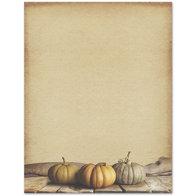 Fall Pumpkins Great Papers Letterhead