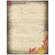 Give Thanks Great Papers Letterhead