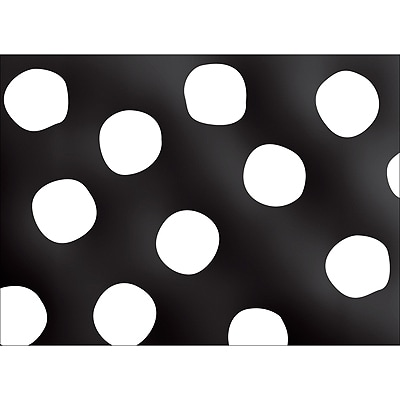 BIG DOTS NOTE CARD - BLACK