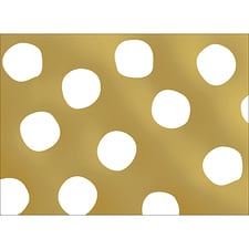 BIG DOTS NOTE CARD - GOLD