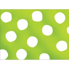 BIG DOTS NOTE CARD - GREEN