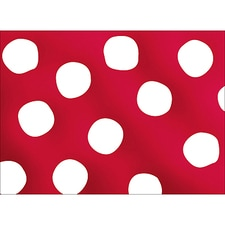 BIG DOTS NOTE CARD - RED