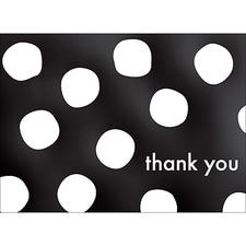 BIG DOTS THANK YOU NOTE - BLACK