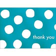 BIG DOTS THANK YOU NOTE - BLUE