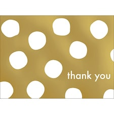 BIG DOTS THANK YOU NOTE - GOLD