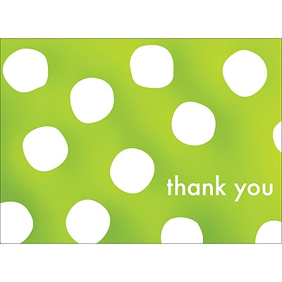 BIG DOTS THANK YOU NOTE - GREEN