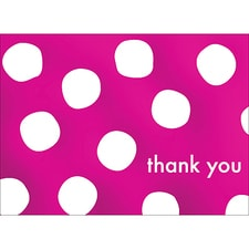 BIG DOTS THANK YOU NOTE - PINK