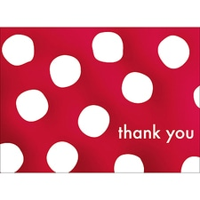 BIG DOTS THANK YOU NOTE - RED
