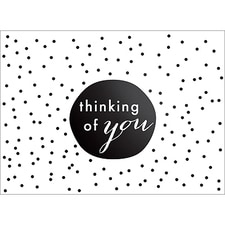 TINY DOTS NOTE CARD - BLACK