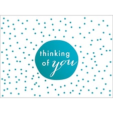 TINY DOTS NOTE CARD - BLUE