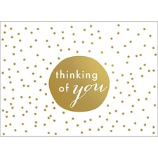 TINY DOTS NOTE CARD - GOLD