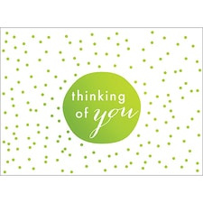 TINY DOTS NOTE CARD - GREEN