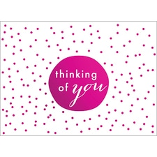 TINY DOTS NOTE CARD - PINK