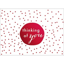 TINY DOTS NOTE CARD - RED