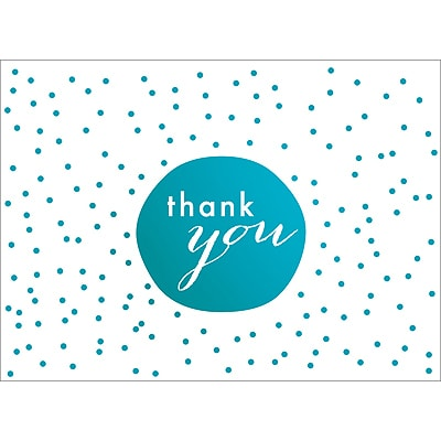 TINY DOTS THANK YOU NOTE - BLUE