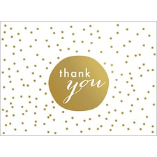 TINY DOTS THANK YOU NOTE - GOLD