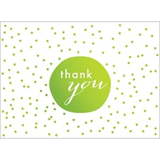 TINY DOTS THANK YOU NOTE - GREEN