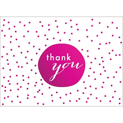TINY DOTS THANK YOU NOTE - PINK