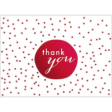 TINY DOTS THANK YOU NOTE - RED