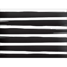 BRUSH STRIPES NOTE CARD - BLACK