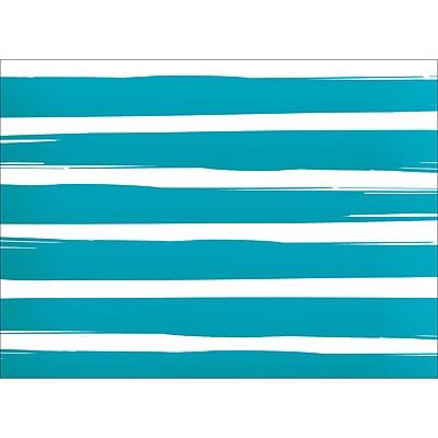BRUSH STRIPES NOTE CARD - BLUE