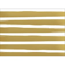 BRUSH STRIPES NOTE CARD - GOLD