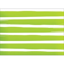 BRUSH STRIPES NOTE CARD - GREEN