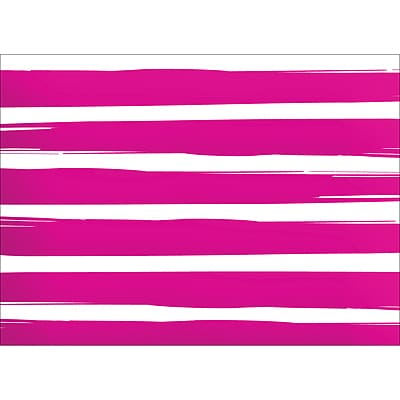 BRUSH STRIPES NOTE CARD - PINK