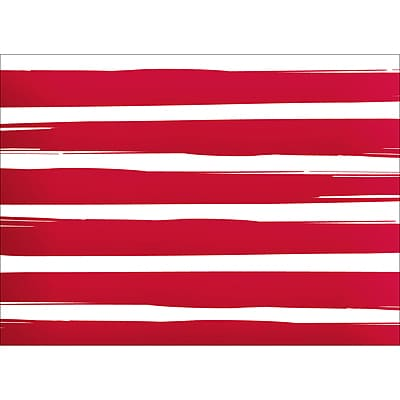 BRUSH STRIPES NOTE CARD - RED