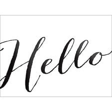 HELLO NOTE CARD - BLACK