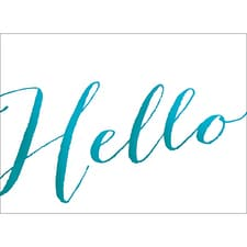 HELLO NOTE CARD - BLUE