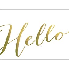 HELLO NOTE CARD - GOLD