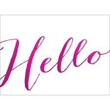 HELLO NOTE CARD - PINK