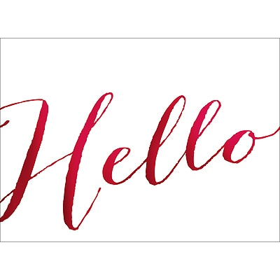 HELLO NOTE CARD - RED