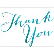 THANK YOU NOTE - BLUE